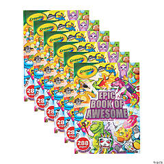Crayola Epic Book of Awesome 288-Page Coloring Book, Pack of 6