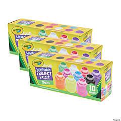 Crayola Neon Paint Set, 2oz., 10 Per Set, 3 Sets