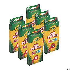 Crayola Oil Pastels, Neon, 12 Per Pack, 6 Packs