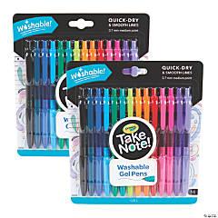 Crayola Take Note! Washable Gel Pens, 14 Per Pack, 2 Packs