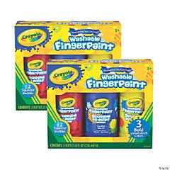 Crayola Washable Fingerpaint, Bold Colors, 8 oz., 3 Per Pack, 2 Packs