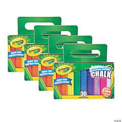 Crayola Washable Sidewalk Chalk, 36 Per Pack, 4 Packs