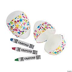 Crayon-Filled Paint Splatter Easter Eggs