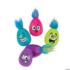 Crazy Hair Plastic Easter Eggs - 12 Pc.
