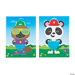 Create a Cool Animal Character Mini Sticker Scenes