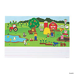 Create & Write Farm Sticker Scenes
