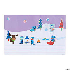 Create & Write Winter Sticker Scenes