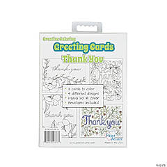 Creative Coloring Thank You Cards