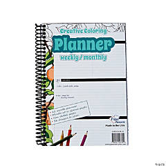 Creative Coloring Weekly & Monthly Planner
