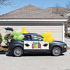 Creative Converting 2021 Colorful Graduation Car Decorations Kit