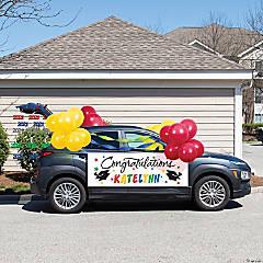 Creative Converting Assorted Colors 2021 Graduation Car Decorations Kit