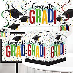 Creative Converting Colorful Graduation Decorations Kit