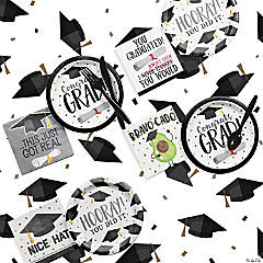 Creative Converting Graduation Fun Party Supplies Kit for 32 Guests