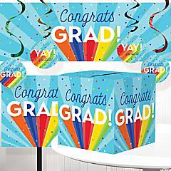 Creative Converting Rainbow Graduation Decorations Kit