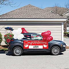 Creative Converting Red 2021 Graduation Car Decorations Kit