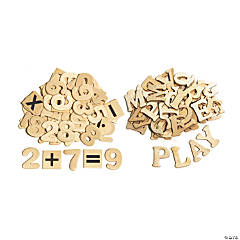 "Creativity Street® Letters and Numbers, Natural Wood, 1.5"", 200 Pieces"