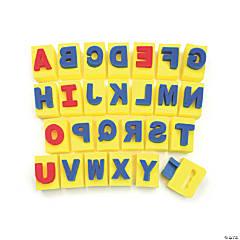 Creativity Street® Paint Handle Sponges, Capital Letters, 2.9375
