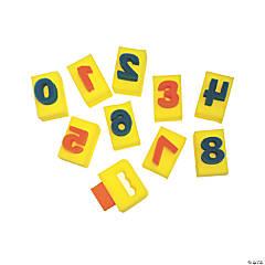 Creativity Street® Paint Handle Sponges, Numbers, 2.9375