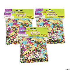 Creativity Street® Sequins & Spangles, Assorted Colors, Assorted Sizes, 4 oz., 3 Packs