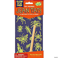 Creeping Bugs & Spiders Glow in the Dark Jean Tats Pack