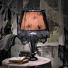 Creepy Lace Spiderweb Lampshade Topper Halloween Décor