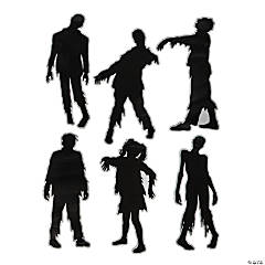 Creepy Zombie Silhouette Cutouts Halloween Decorations