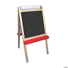Crestline Products Deluxe Magnetic Paper Roll Easel, Dry Erase/Black Chalk