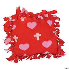 Cross Print Tied Fleece Pillow Craft Kit