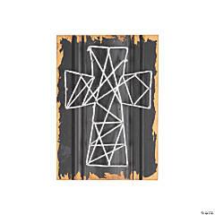 Cross String Art Sign