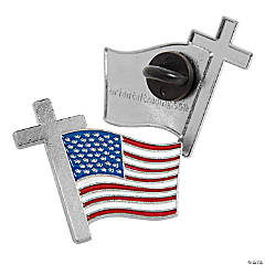 Cross with Flag Pins