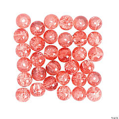 Crushed Glass Pink Beads - 8mm