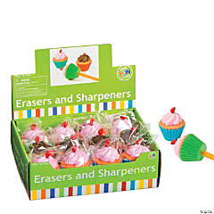 Cupcake Eraser with Sharpener