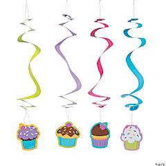 Cupcake Party Hanging Swirls