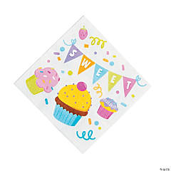 Cupcake Party Luncheon Napkins