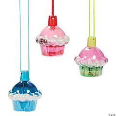 Cupcake Sand Art Bottle Necklaces