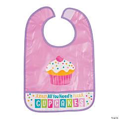 Cupcake Sprinkles Baby Bib
