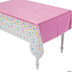 Cupcake Sprinkles Plastic Tablecloth