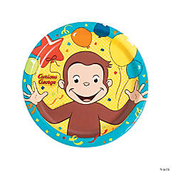 Curious George® Paper Dinner Plates - 8 Ct.