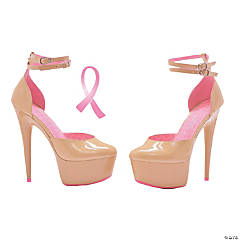 Curissa Breast Cancer Awareness High Heel Shoes - Size 6
