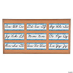 Cursive Alphabet Line Mini Bulletin Board Set