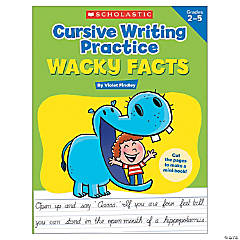 Cursive Writing Practice: Wacky Facts