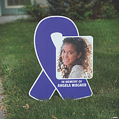 Custom Photo Awareness Ribbon Yard Sign