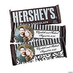 Custom Photo Black & White Wedding Chocolate Candy Bars