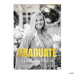 Custom Photo Confetti Graduation Invitations