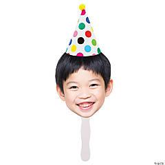 Custom Photo Face Birthday Hat Hand Fans