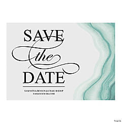 Custom Photo Geode Save the Date Cards