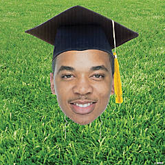 Custom Photo Graduation Big Head Cutout Yard Sign