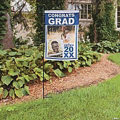 Custom Photo Graduation Garden Flag
