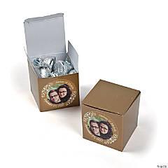 Custom Photo Mini Gold Favor Boxes