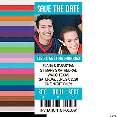 Custom Photo Save the Date Ticket Magnets